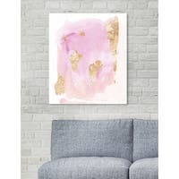 Oliver Gal 'Pink Wednesdays'  Abstract Wall Art Print on Premium Canvas - pink, gold