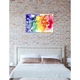 Oliver Gal 'Jamie Blicher - Cyndi' Abstract Wall Art Canvas Print - Purple, Red