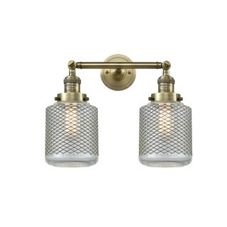 Innovations Lighting Stanton Clear Glass and Brass 2-light Adjustable Sconce with Switch