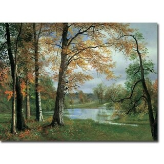 A Quiet Pond by Albert Bierstadt Gallery Wrapped Canvas Giclee Art (12 in x 16 in, Ready to Hang)