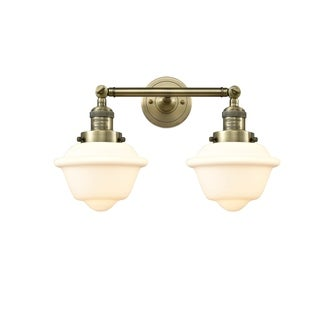 Innovations Lighting Oxford Brass and Glass Small 2-light Adjustable Sconce