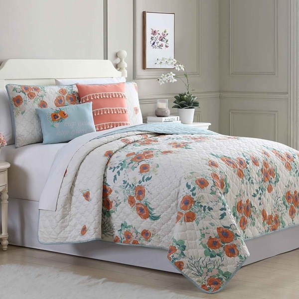 Amrapur Overseas Coventry 5-Piece Reversible Quilted Coverlet Set