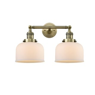 Innovations Lighting Large Bell 2 Light Adjustable Sconce