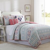 Amrapur Overseas Jordana 5-Piece Reversible Quilted Coverlet Set