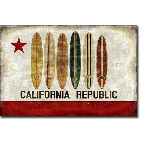 Surf Republic by Luke Wilson Gallery Wrapped Canvas Giclee Art (12 in x 18 in, Ready to Hang)