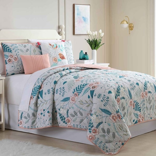 Amrapur Overseas Julianna 5-Piece Reversible Quilted Coverlet Set