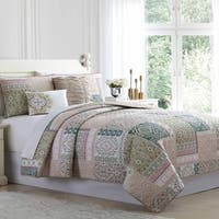 Amrapur Overseas Mediterra 5-Piece Reversible Quilted Coverlet Set