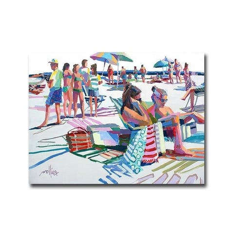 Beach Party by Patti Mollica Gallery Wrapped Canvas Giclee Art (12 in x 16 in, Ready to Hang)