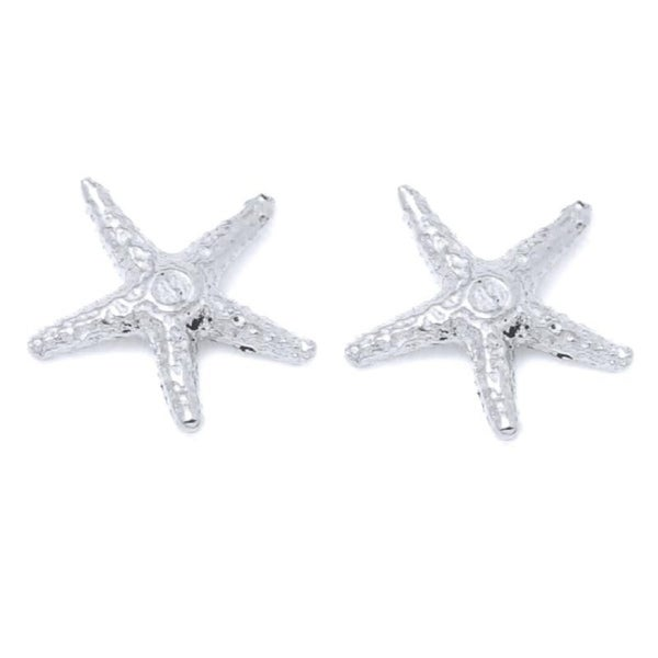 14k White Gold Starfish Stud Earrings Free Shipping Today 24123937