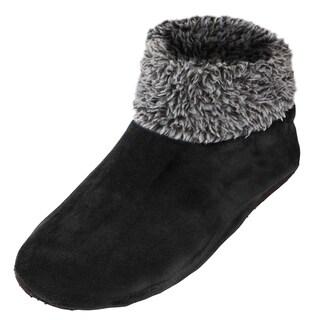Shop Men S Sherpa Lined Fleece Ankle Fuzzy Cozy Slipper