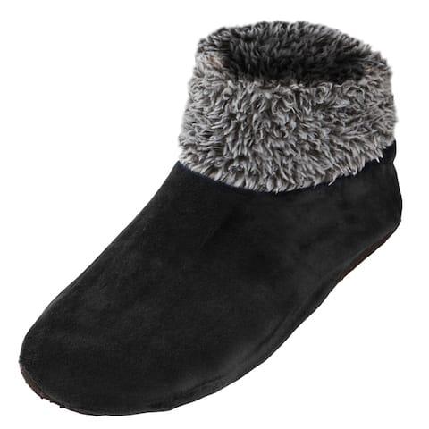 Womens Sherpa Lined Fleece Ankle Fuzzy Cozy Slipper Socks