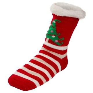 Women's Sherpa Lined Fleece Cozy Slipper Socks Christmas Holiday