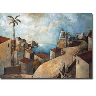 Camino Del Faro by Didier Lourenco Gallery Wrapped Canvas Giclee Art (12 in x 15 in, Ready to Hang)