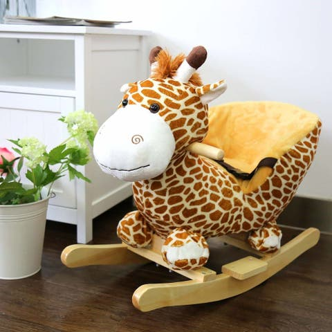Kinbor Kids Rocking Horse Baby Ride on Toy Animal Rocker with Sound Children's Day Birthday Gift