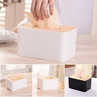 Tissue Box with Solid Wood Cover Creative Storage Box Storage Organizer