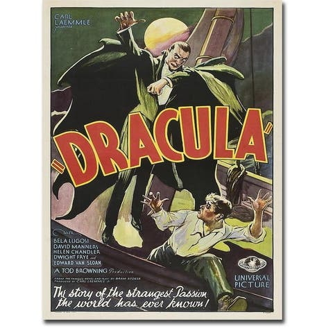 Dracula, 1931 by Anonymous Gallery Wrapped Canvas Giclee Art (16 in x 12 in, Ready to Hang)