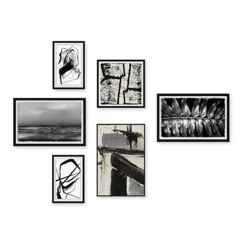 Marmont Hill - Handmade Cryptic Structure Hexaptych