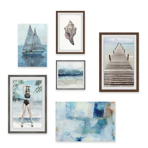 Marmont Hill 'Gateway to Heaven' Hexaptych Multicolor Framed Prints Set - Multi-color