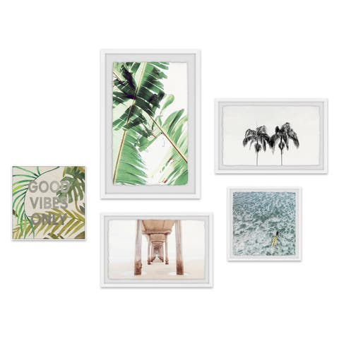 Marmont Hill - Handmade Spectacular Living Pentaptych Wall Art