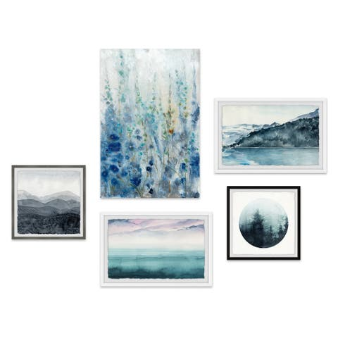 Marmont Hill - Handmade Quintessential Life Pentaptych - Multi-color