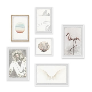 Marmont Hill Handmade In The Blush Hexaptych Wall Art On Sale Overstock 24125304