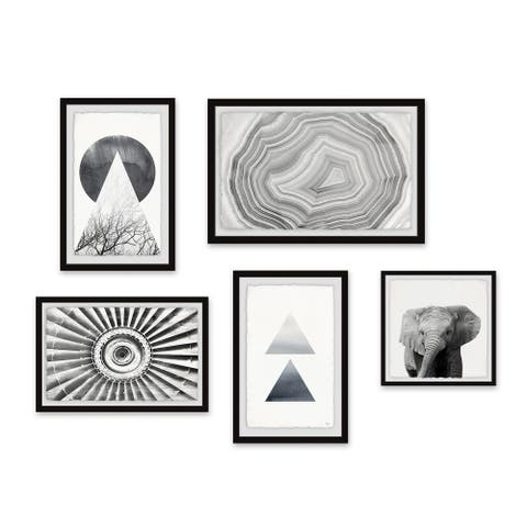 Marmont Hill - Handmade African Wonders Pentaptych - Multi-color