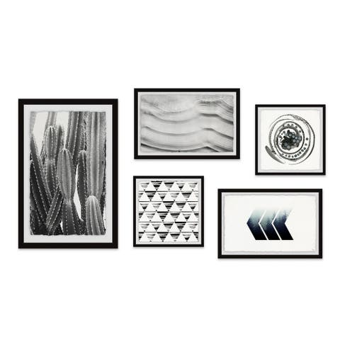 Marmont Hill - Handmade Alluring Forms Pentaptych - Multi-color