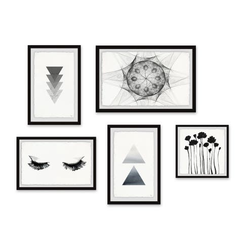 Marmont Hill - Handmade Daydreaming World Pentaptych - Multi-color