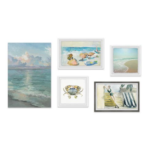 Marmont Hill - Handmade Its a Beach Vibe Pentaptych