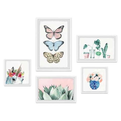 Marmont Hill - Handmade Fairytale Pentaptych - Multi-color