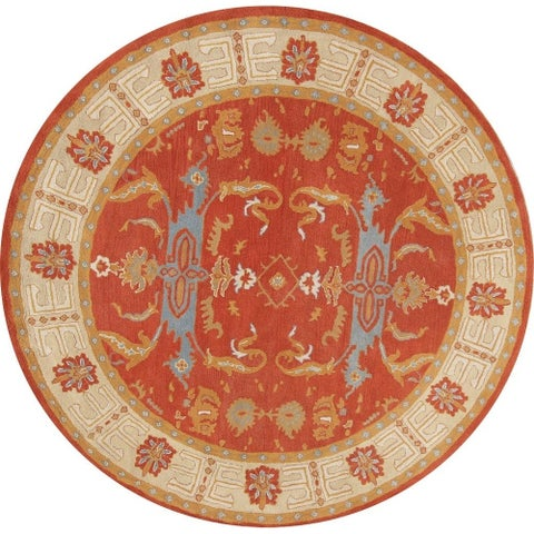 Copper Grove Hobro Hand-tufted Woolen Floral Indian Oriental Round Rug - 10' Round
