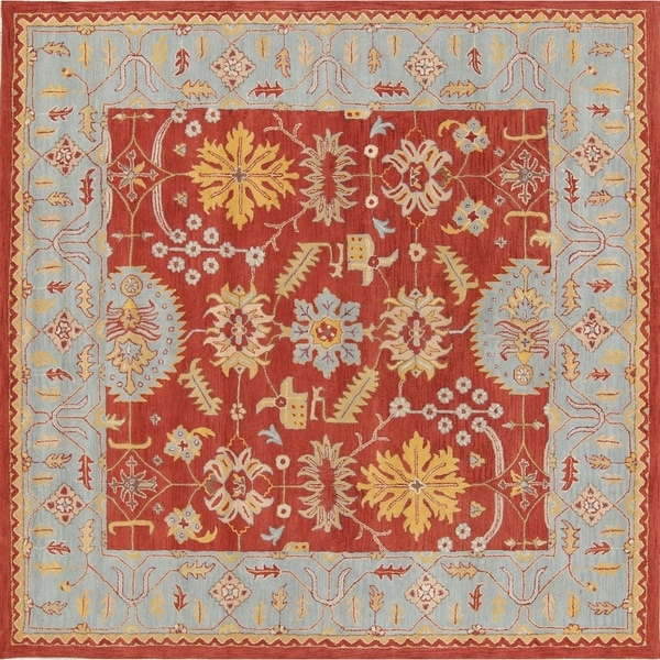 Copper Grove Odder Hand-tufted Woolen Floral Indian Oriental Square Rug - 10' square