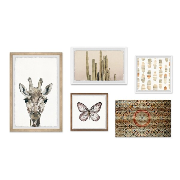 Marmont Hill - Handmade Shades of Ginger Pentaptych - Multi-color. Opens flyout.