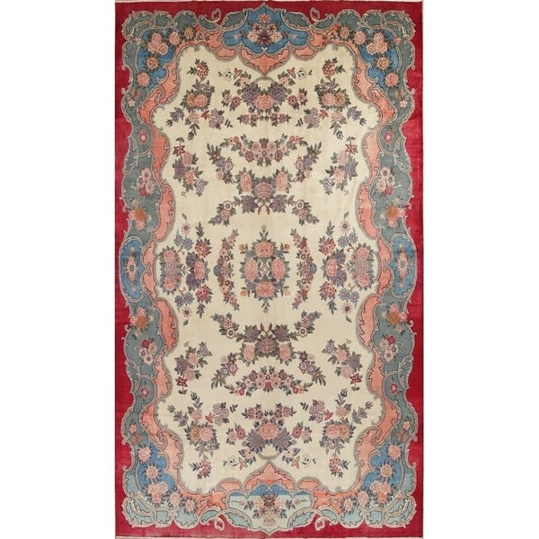 Hand Knotted Persian Tabriz Wool Area Rug Ebth: Shop Vintage Hand Knotted Wool Floral Tabriz Persian