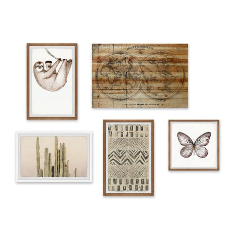 Marmont Hill - Handmade Holiday Life Pentaptych - Multi-color