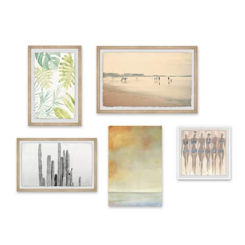 Marmont Hill - Handmade Doux Projets Pentaptych Wall Art
