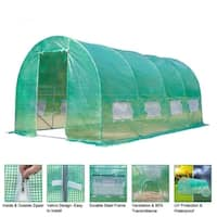 15'x7'x7' Heavy Duty Plant Gardening Walk-in Greenhouse Tent