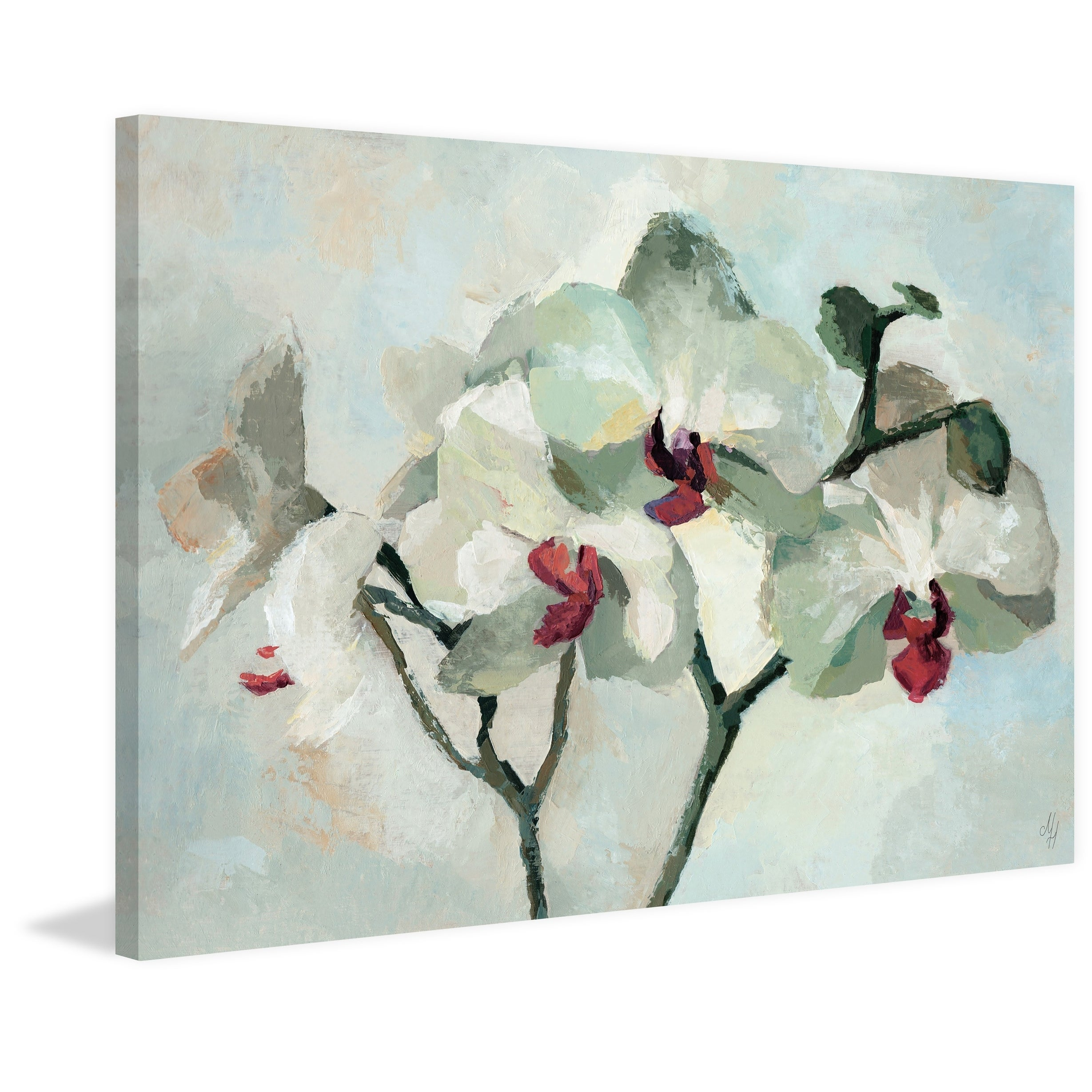 Shop Marmont Hill Handmade Orchid Bloom Print On Wrapped Canvas