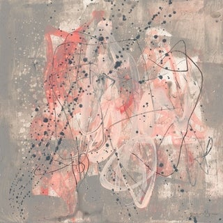 'Blush Kinesis I' Painting Print on Wrapped Canvas - Multi-color