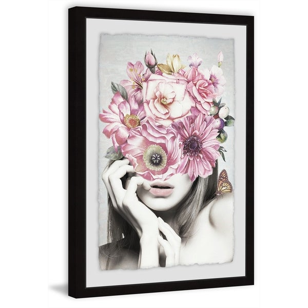Marmont Hill - Handmade Pink Floral Beauty Framed Print. Opens flyout.