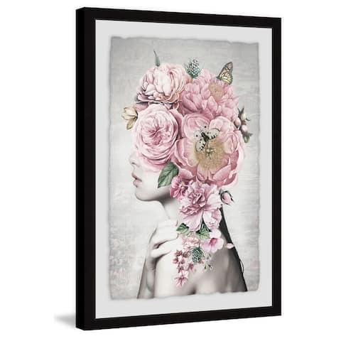 Marmont Hill - Handmade Floral Hair Framed Print