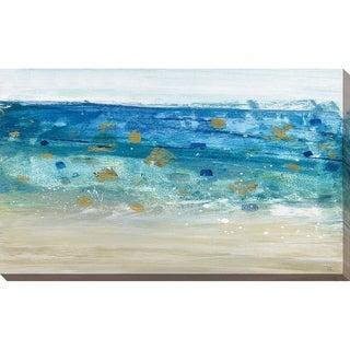 """Sea Glass Summer II"" by Susan Jill Print on Canvas - Blue"