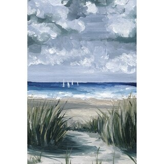 Seaside Grass' Painting Print on Wrapped Canvas - Multi-color