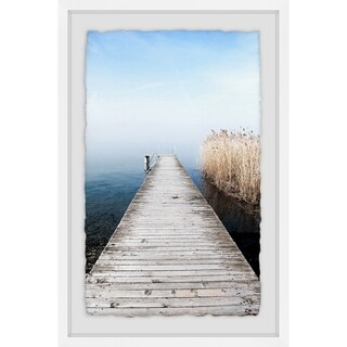 Path to Serenity' Framed Painting Print - Multi-color
