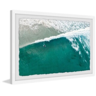 Riding the Wave' Framed Painting Print - Multi-color