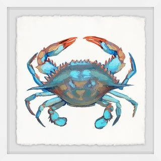 Marmont Hill - Handmade Icy Blue Crab Framed Print