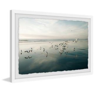 'Flock' Framed Painting Print - Multi-color