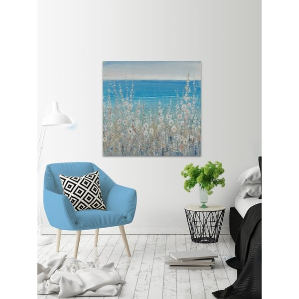 Marmont Hill Handmade Flowers By The Sea Ii Print On Wrapped Canvas Overstock 24126607
