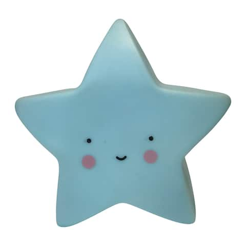 Creative Motion Kids Soft Star Gel Silicon Night Light with 3 Button Batteries - Blue