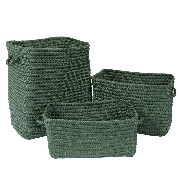 The Gray Barn Sycamore Rise Forest Green 3-piece Basket Set